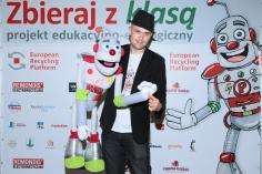 Konrad _Kony_ Czarkowski - finalista Mam Talent z Eko Robotem _Paluszkiem_, fot. Paweł Wodzyński